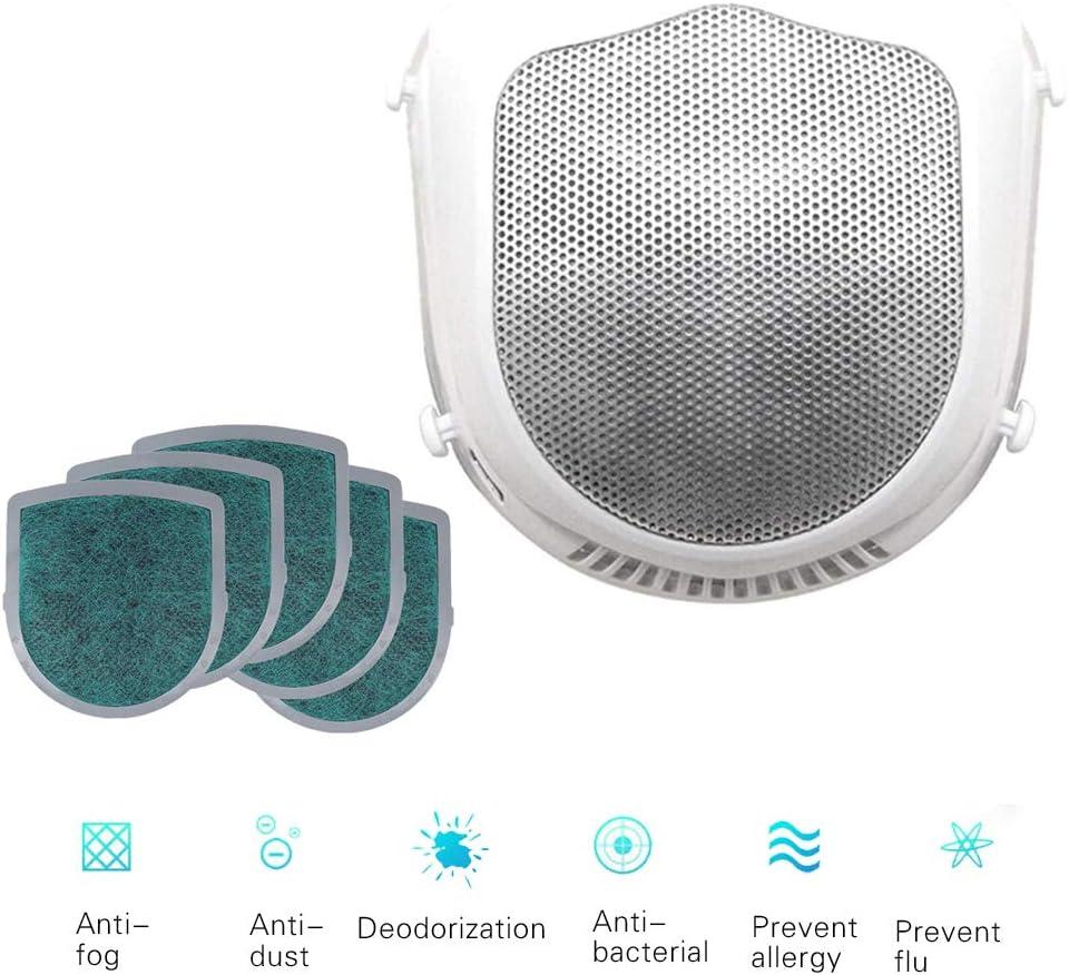 GHmarine Máscara eléctrica + 5 filtros de Repuesto, máscara de Polvo eléctrica Inteligente, válvula de respiración purificadora de Aire Fresco