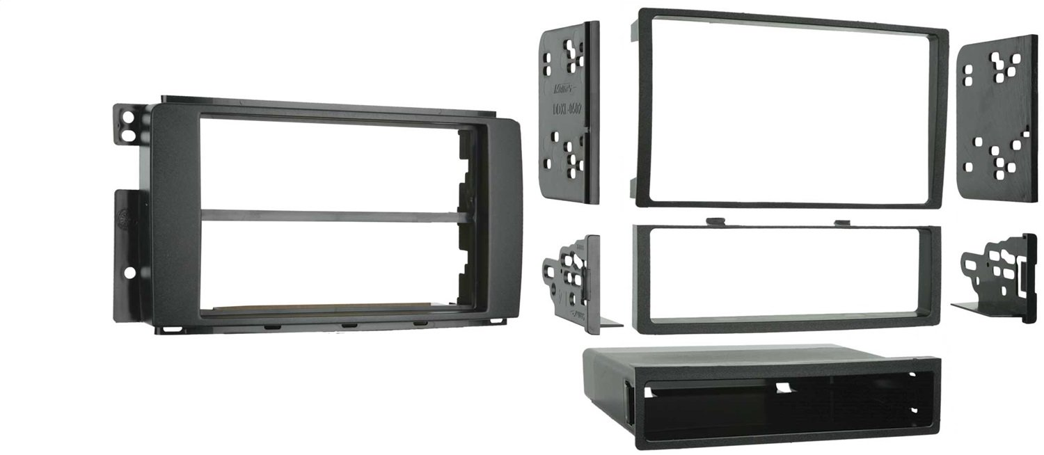 Metra 99-8715 Double DIN or Single DIN Installation Dash Kit for 2008-up SMART for Two