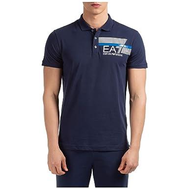 Emporio Armani EA7 Hombre Polo Navy Blue M: Amazon.es: Ropa y ...