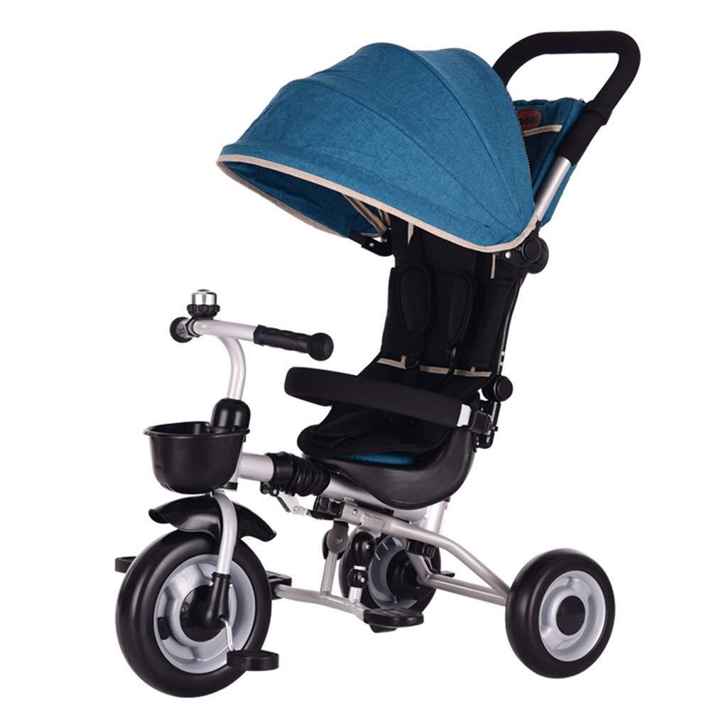 solo cómpralo azul Hejok Triciclo para para para NiñOs con Capota, Triciclos De NiñOs De 1 A 3 AñOs De Edad Triciclo De Bebé En Triciclo Evolutivo con Plegado (TamañO  93  70  45 Cm) (gris)  los nuevos estilos calientes