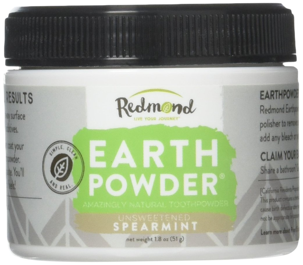 Redmond Earthpowder, All Natural Tooth and Gum Powder Bentonite Clay, Spearmint