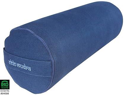 Bolster de Yoga XL 100% algodón orgánico 76 cm x 25 cm Kapok ...