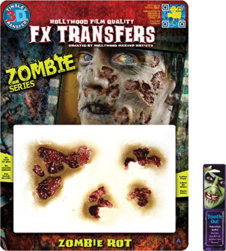 Bundle: 2 Items - Zombie MD Rot 3D FX and Free Pack of Makeup (Zombie Fx Makeup)