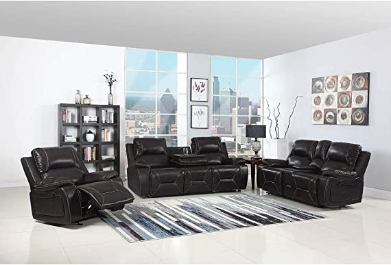 Blackjack Furniture Sofa Set Leather Match