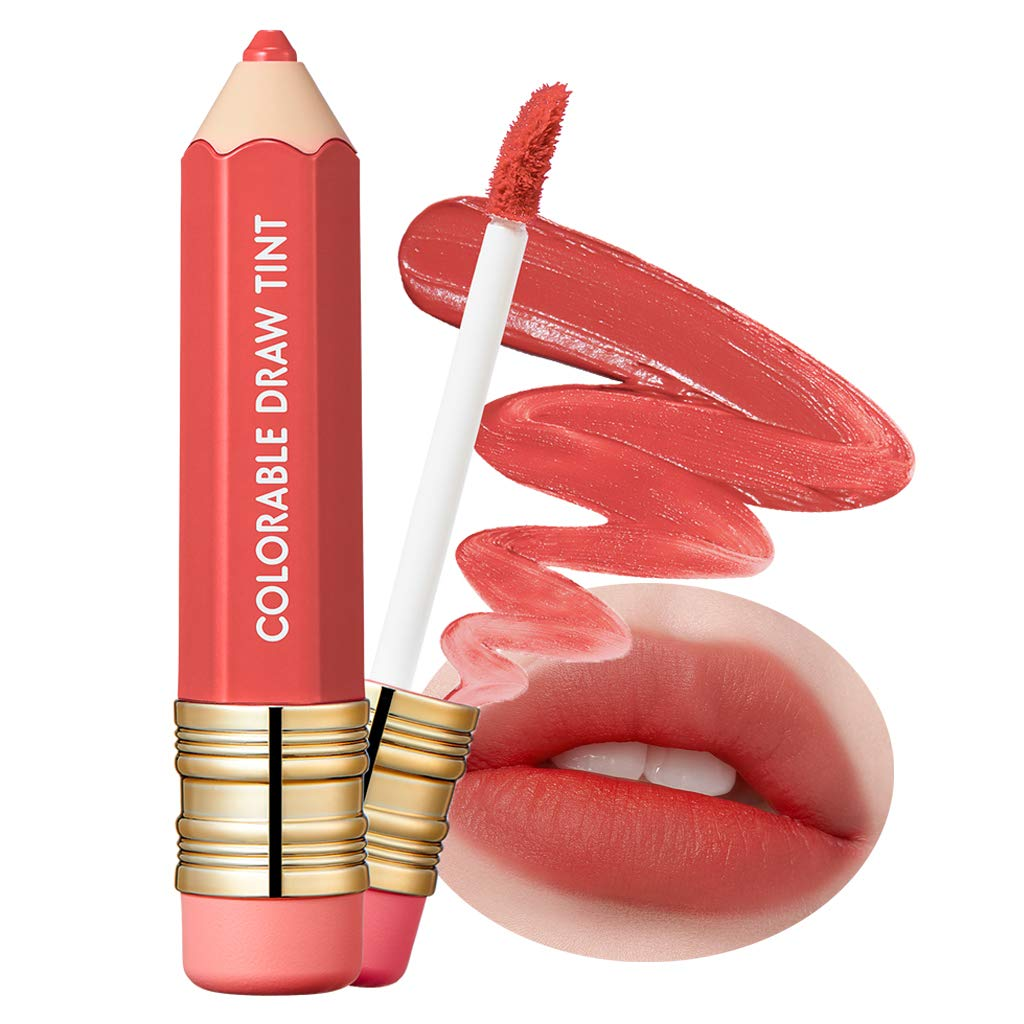 It'S SKIN Colorable Draw Tint 3.3g 10 Colors - Cute Crayon Velvety Lip Tint Lipstick with Matte Finish, Air Light Formula with Long Lasting Intense and Vibrant Color (06 Last Mood)