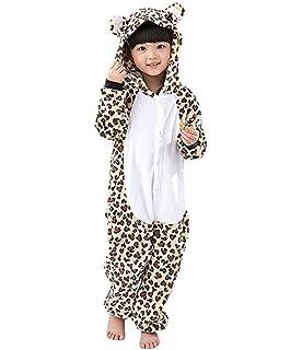 0badc6edcd6bd Magicmode Unisexe Enfants De Dessin Animé Tacheté Léopard Seule Pièce  Grenouillère Pyjama Costume De Cosplay