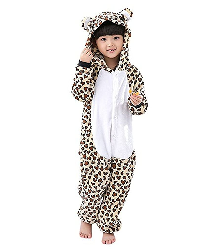 Magicmode Unisex Children Spotted Leopard One Piece Onesie Pajamas Cosplay Costume KY-ETSY-BWX-110