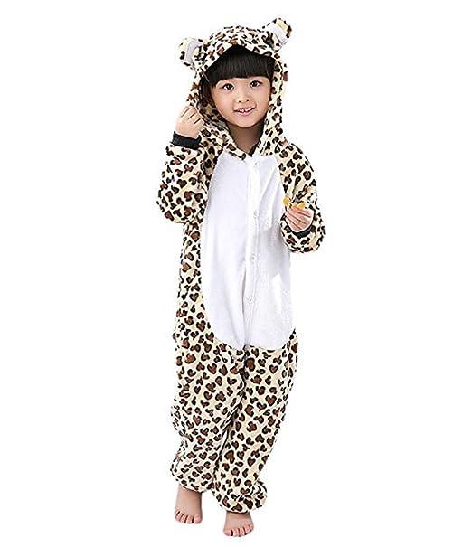 af10c410e5 Magicmode Unisex Niños De Dibujos Animados De Leopardo En Una Pieza Enterizo  De Pijamas Traje De Cosplay  Amazon.es  Ropa y accesorios