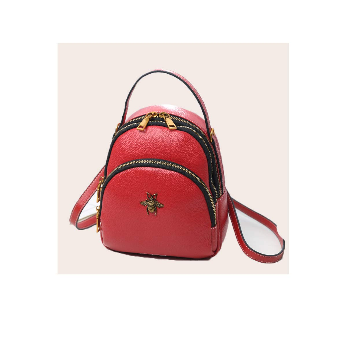Cowhide Latest Models Mini Fashion 8haowenju Girls Multi-Purpose Backpack for Everyday Travel//Outdoor//Travel//School//Work//Fashion//Leisure Black//red//Green