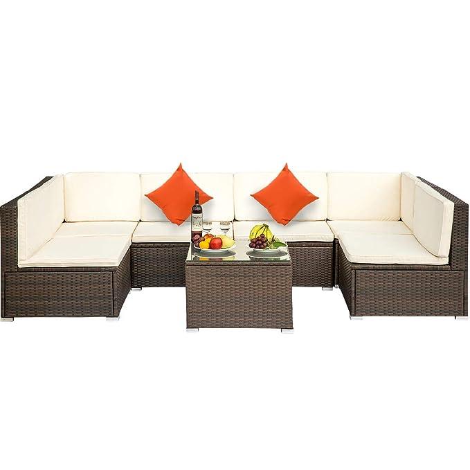 Amazon.com: LZ LEISURE ZONE Juego de muebles de patio de ...