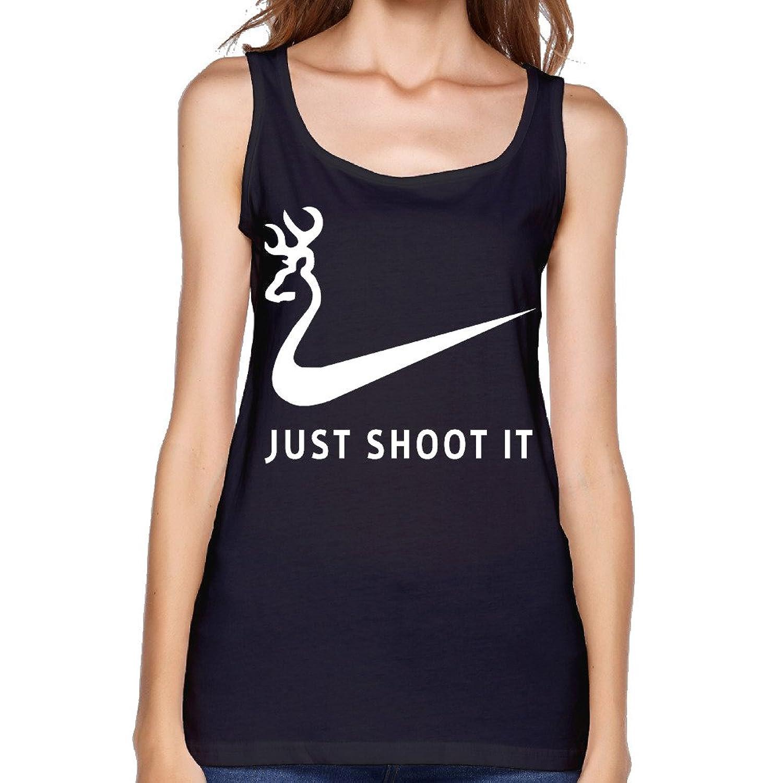 Women's Just Shoot It Funny Deer Hunting Tank Top-
