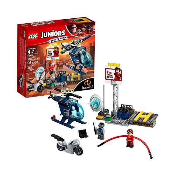 616ra72WwFL LEGO Juniors/4+ The Incredibles 2 Elastigirl's Rooftop Pursuit 10759 Building Kit (95 Piece)
