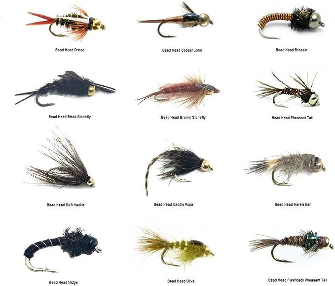 Blood Leech Bead Head Fly Fishing Flies Set Of 3 Size 8.