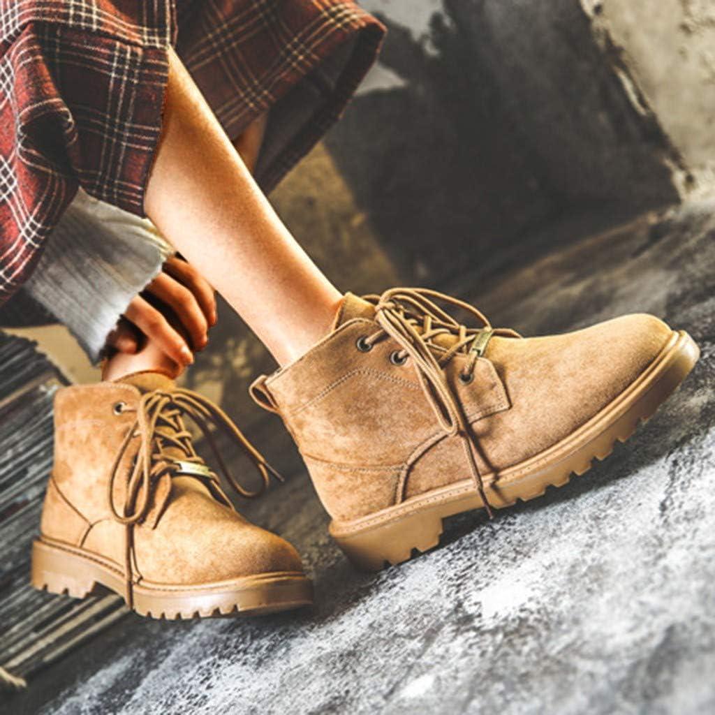 ZARLLE/_ Hombre Zapatillas Mujer oto/ño Zapatos de Tac/ón Moda Botas Cortas,ZARLLE Botines con Cremallera Salvaje Zapatos Casuales Zapatos Individuales Zapatos de Trabajo Botas de Plataforma