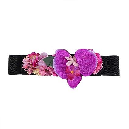 740570f4 Cinturones de flores artificiales Moda Cinturón elástico Cinturón ...
