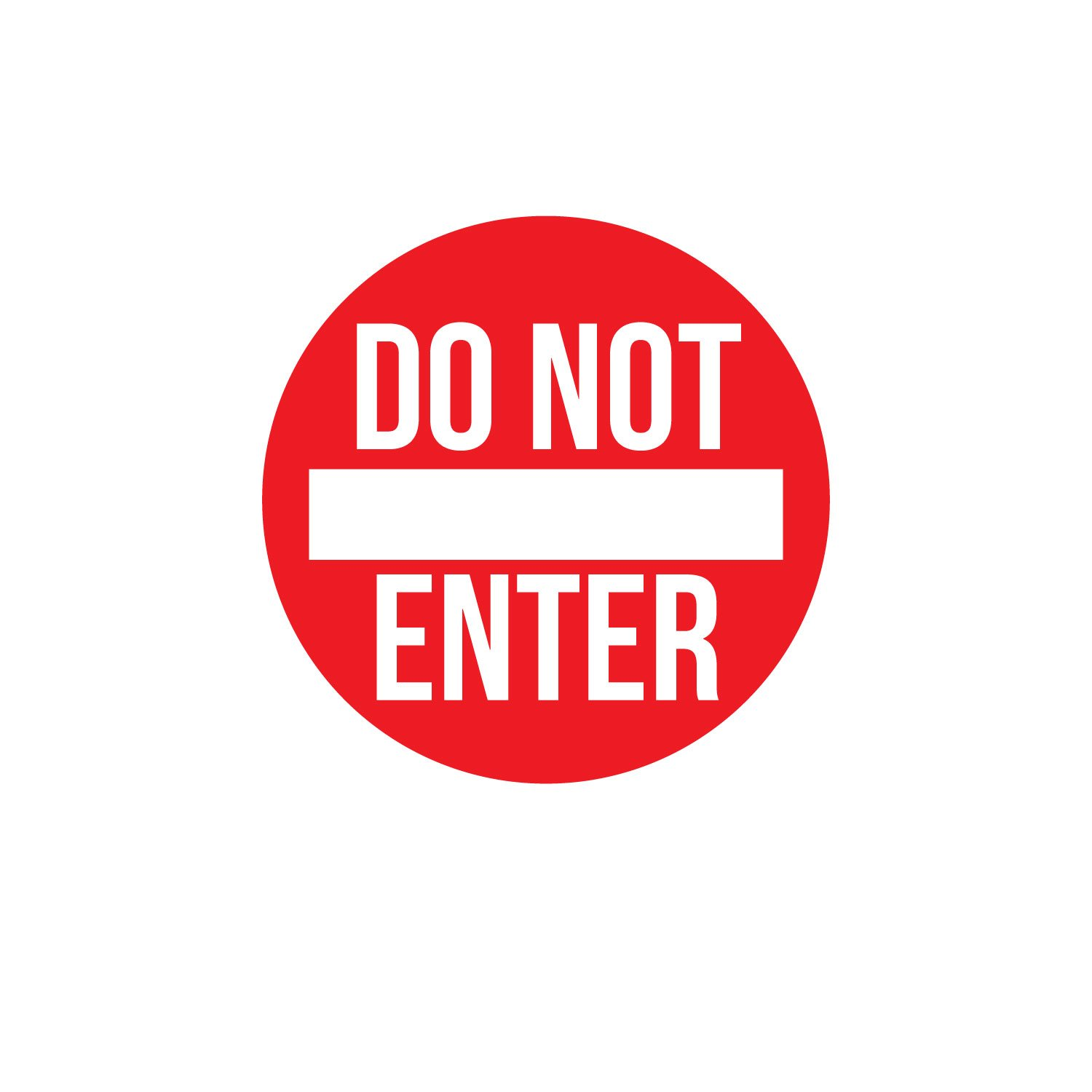 Vinyl Wall Art Decal - Do Not Enter Sign - 12'' x 12'' - Teen Boys Girls Bedroom Door Sticker Decals - Home Decor for Office Door Window Dorm Room