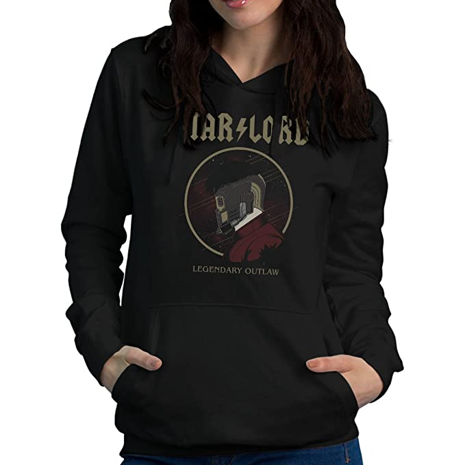Star Lord Legendary Outlaw AC DC Guardians Of The Galaxy Womens Hooded Sweatshirt