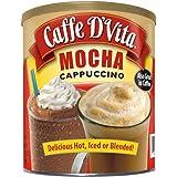 Caffe D'Vita Mocha Cappuccino Hot or Cold Cappuccino Mix 64 Oz