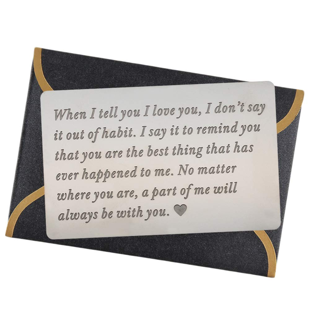 99f728df9f2d Engraved Wallet Cards for Men Wallet Inserts Unique Birthday Gifts for Men  Gifts for Men Anniversary Gifts for Men Gifts Ideas for Husband Gifts from  Wife ...