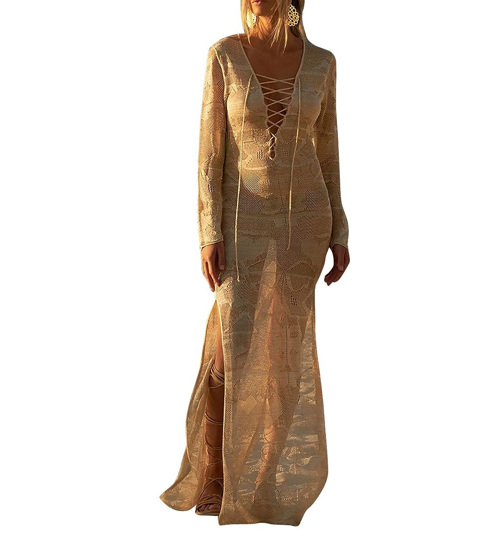 26b65dbff9a 60%OFF Jeasona Women s Chiffon Lace Kimono Maxi Bikini Swimsuit Bathing  Suit Cover Up