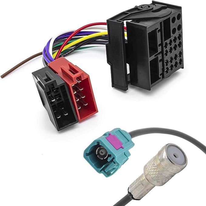Radio Antennenadapter Kfz Iso Adapter Kabel Quadlock Elektronik