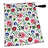 Cock Flower Stylish Waterproof Wet Dry Bags Zipper Diaper Pail Bag for Reusable Diapers Or Laundry