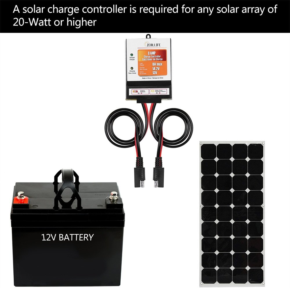 Zeallife Solar Panels Charge Controller 8a Battery Uses A Shunt Regulator To Prevent Overcharging Circuit 12v For Charger Maintainer And 12 Volt Batteries
