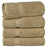 TURKUOISE TURKISH TOWEL Premium Quality 100% Turkish Cotton Eco-Friendly Towels (Bath Towel 4PK, Driftwood)