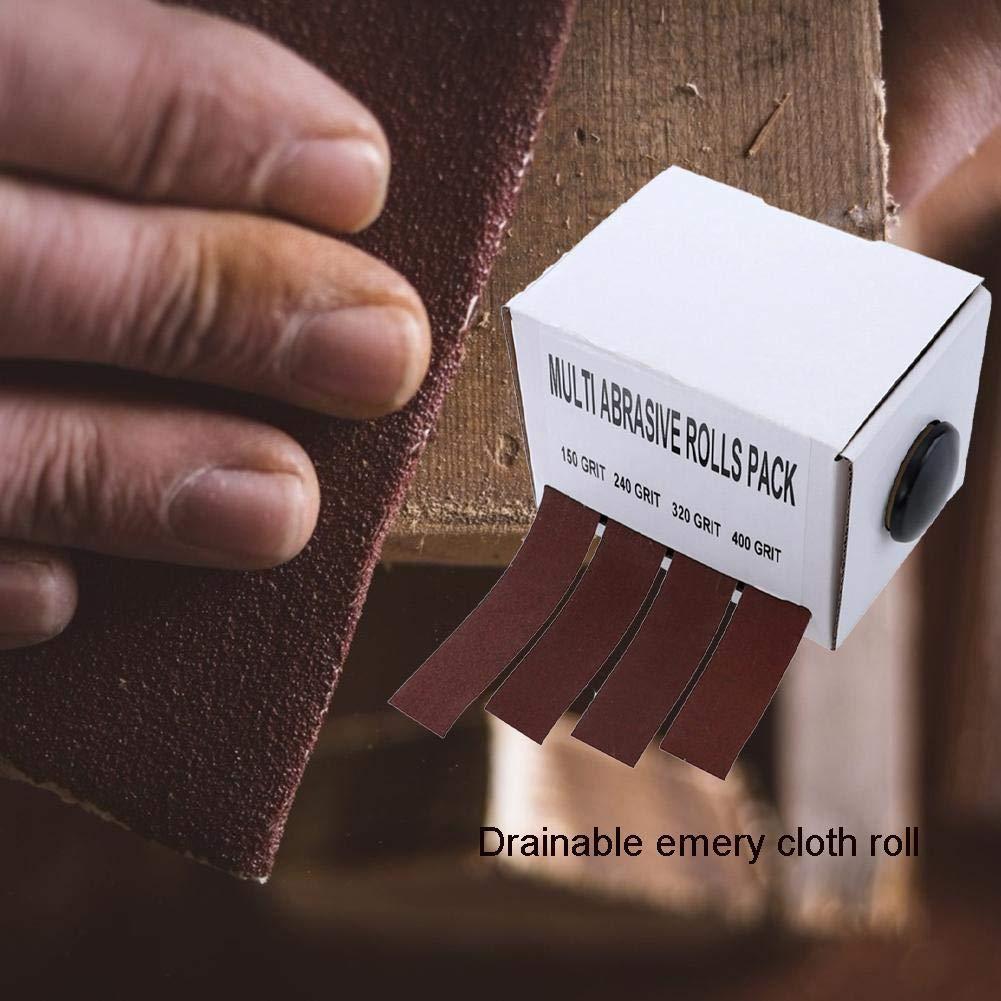TOOGOO 4 Rouleaux de Pon?Age Bande de Tissu /éMeri Extensible Sabl/é Zone de Ceinture Abrasive S/èChe Ceintures de Meulage en Bois pour Rouleaux de Bois Automobile