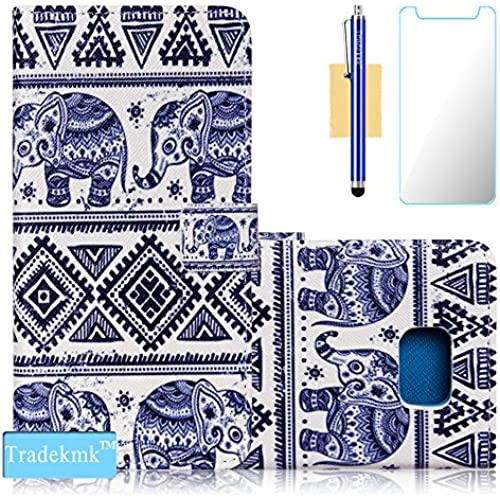 Galaxy S7 Edge Case,S7 Edge Case, Tradekmk(TM);Totem Elephants Design Quality PU Leather Flip Case with Card Slots Sales