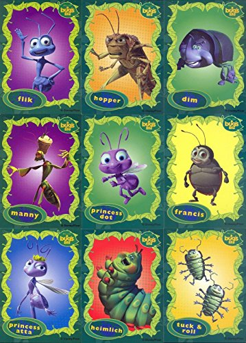 A BUG'S LIFE NESTLE COMPLETE CARD SET OF 12 DISNEY PIXAR FLIK HOPPER DOT ATTA Hopper Dot