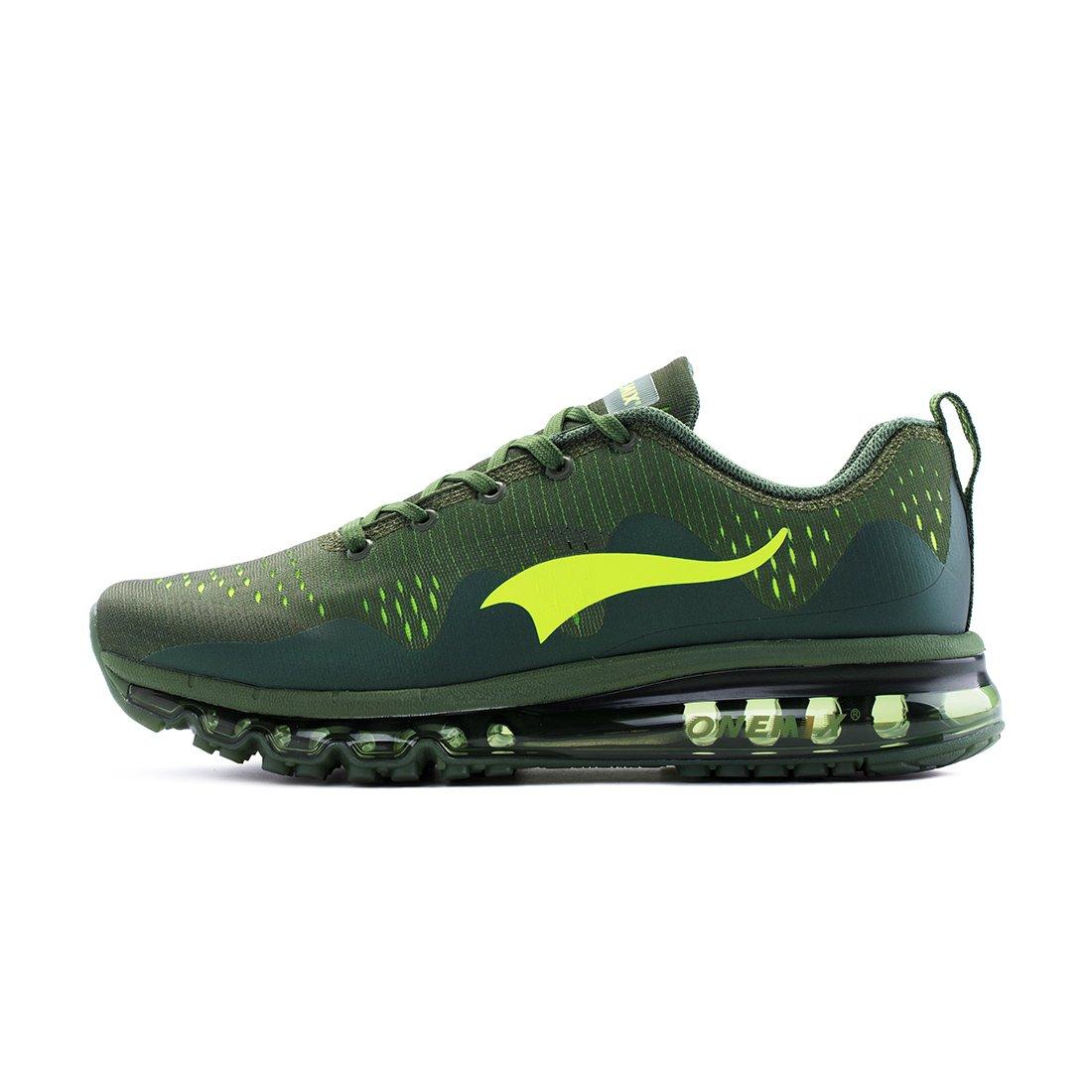 ONEMIX Men's Air Cushion Running Shoes for Women Gym Fitness Sports Mesh Casual Walking Sneakers B07DFYNYG9 Men 8.5(M)US / Women 10(M)US 42EU|Green