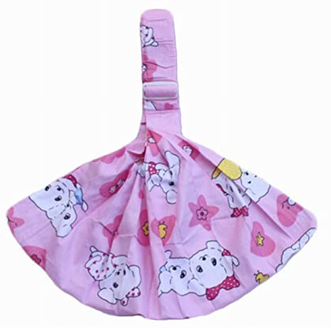 Práctico carrito de bebé Front Carrier algodón bebé eslingas, Rosa [cachorro patrón]