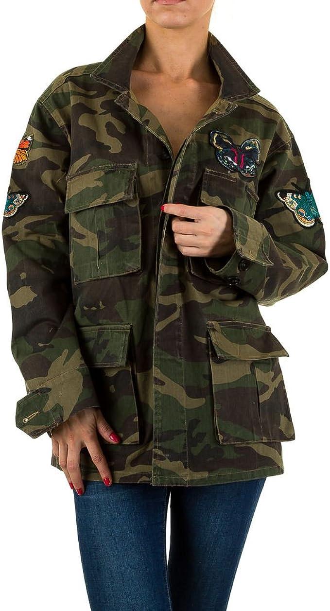 Ital Design Applikationen Camouflage Jacke Für Damen