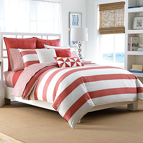 Full/Queen Duvet Set Nautica Lawndale Coral
