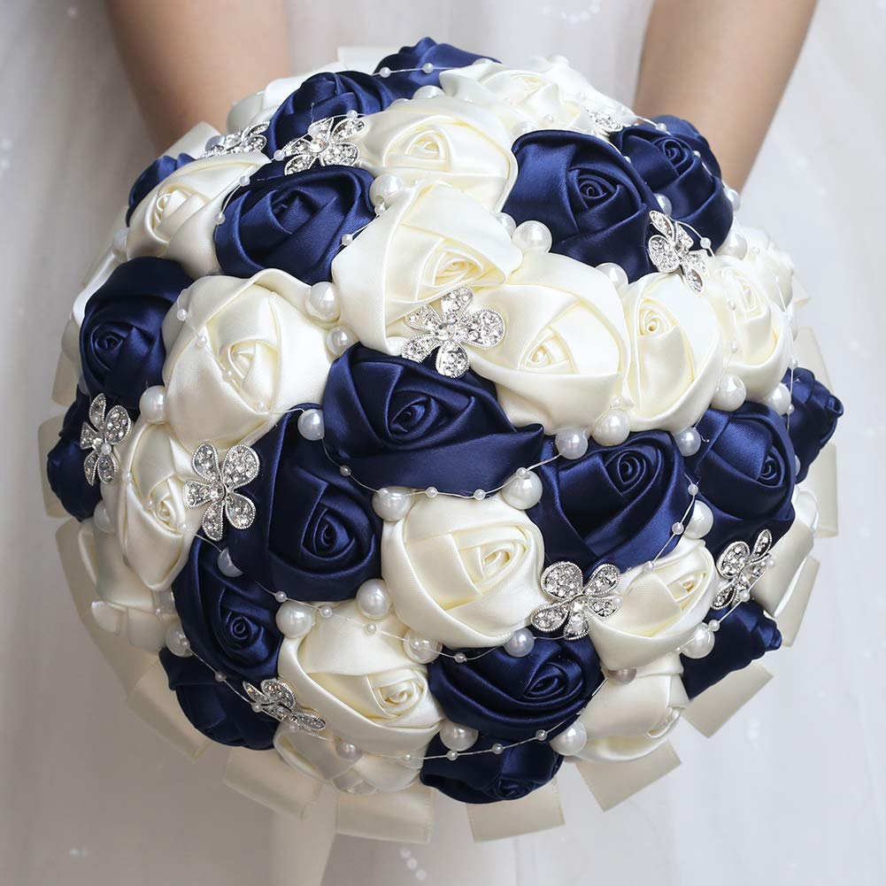 Wjyikee Handmade Romantic Wedding Bouquet Bridal Holding Bouquets