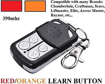 Sears 139 53681b Garage Door Opener Key Chain Remote Control 139 53680 2 Key Chain Remote Control For 4 Doors Only Works For Red Orange Learn Button Amazon Com