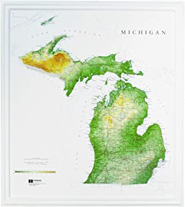 Hubbard Scientific Raised Relief Map 960 Michigan State Map