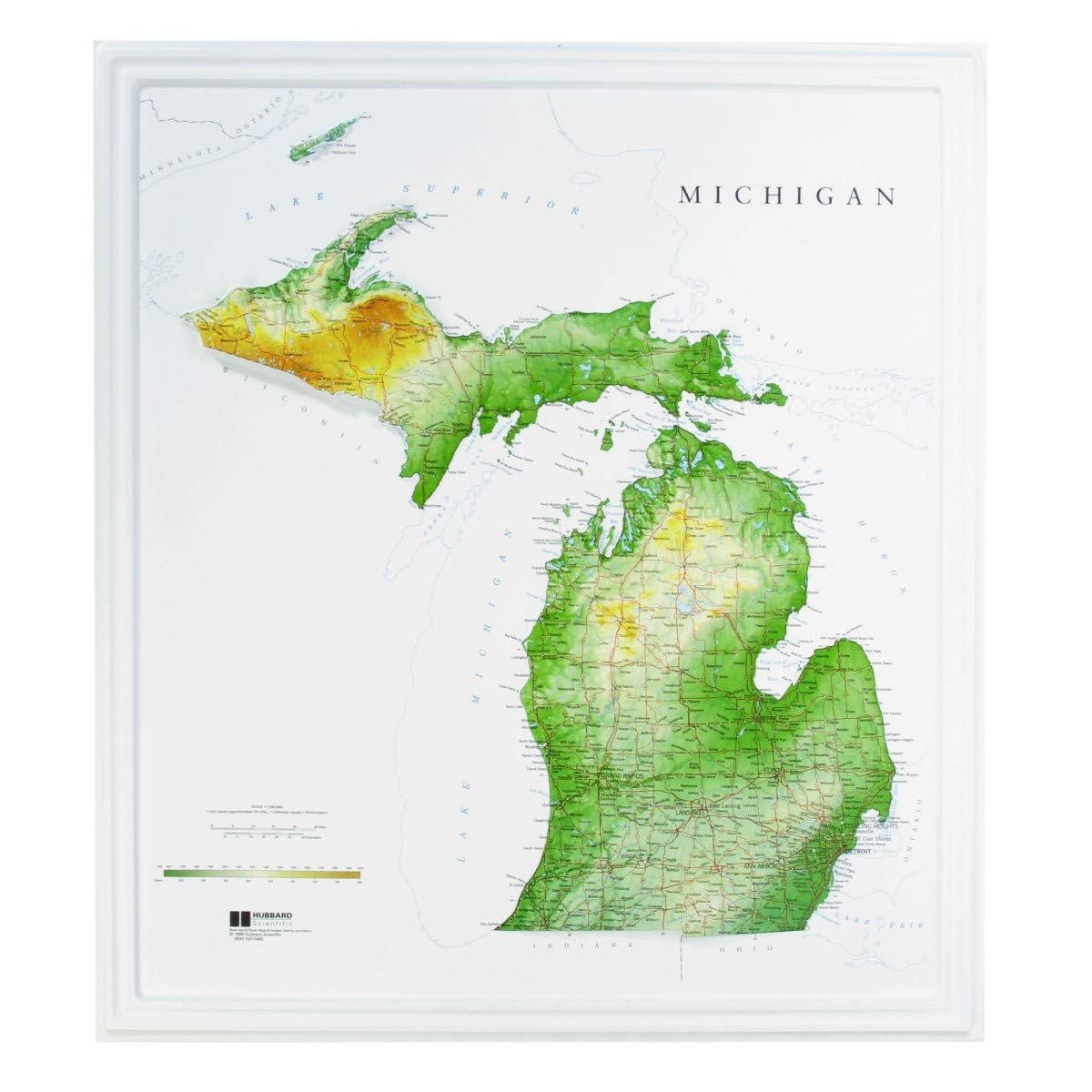Amazon Com Hubbard Scientific Raised Relief Map 960 Michigan State