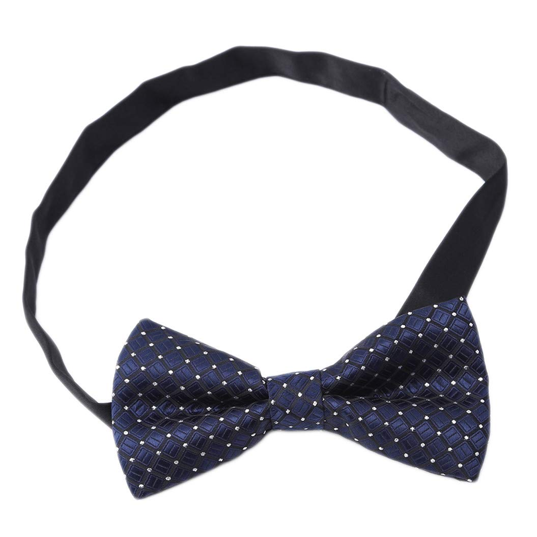 LZIYAN Formal Suit Bow Ties Elegant Adjustable Small Square Pre-tied Bow Ties For Men Boys Fashion Gift For Your Boyfriend Husband,Dark blue square