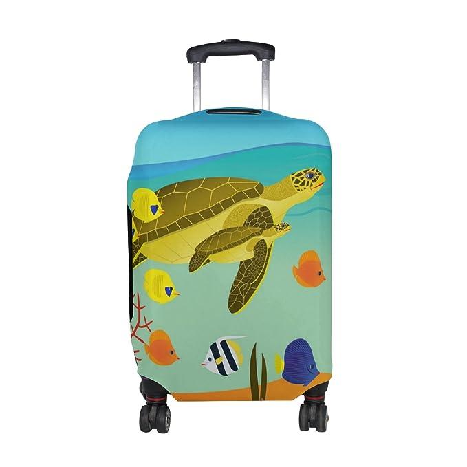 0486d4670907 Amazon.com | DEYYA Colorful Coral Reef Sea Turtle Fish Spandex ...