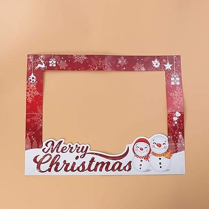 Amosfun Marco de Fotos de Navidad Marco de Fotos de Navidad Prop Marco de Selfie de Navidad Marco de Fotos Divertidas Apoyos Suministro de Fiesta de Navidad ...