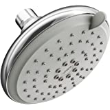 Asian Paints Bathsense 5 flow multifunction 4.5 inches Over Head Shower, with Self Cleaning Technology, Powerful Spray Engine, Contemporary and Sleek Design, (Chrome finish with White faceplate)
