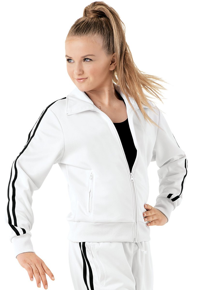 Urban Groove Dance Track Jacket Long Sleeve White Child Large by Balera
