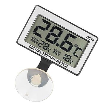 Baoblaze DC16 LCD Termómetro Digital para Acuario de Peces Tanque de Agua Impermeable Blanco: Amazon.es: Coche y moto