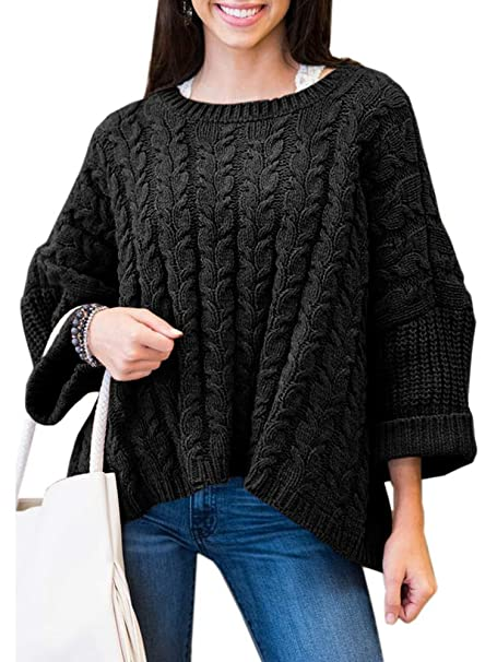 Women's Long Sleeve Jumper Sweater Ladies Baggy Knot Pullover Tops Plus Size Jumper