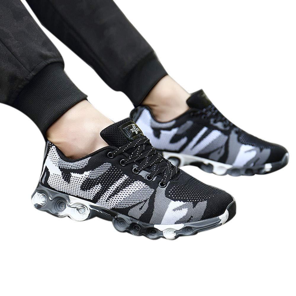 JiaMeng Zapatillas de Correr Hombre Color de Hechizo Casual de Moda Zapatillas de Deporte con Cordones Suaves y có modos Hombres Zapatos de Camuflaje