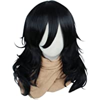 COSPLAZA My Hero Academia Cosplay Wigs Mid-Length Curly Black Male Men Hero Tutor Anime Comic Cons Costume Hairs