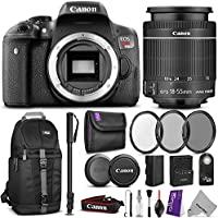 Canon EOS Rebel T6i Digital SLR Camera + EF-S 18-55mm f/3.5-5.6 IS STM Zoom Lens w/ Essential Photo and Travel Bundle Review Review Image