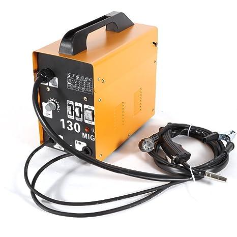 Estación de soldadura máquina de soldadura eléctrico soldador portátil máquina de soldar portátil MIG 130 220 V, amarillo: Amazon.es: Bricolaje y ...